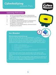 anti bullying lesson plans activities cyber ks1 reali elipalteco