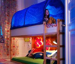 Ikea Kura Bunk Beds Ikea Kura Children Bed Tent Canopy With White Dots Fits Beds Vgc