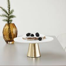 marble cake stand buy hubsch marble and brass cake stand