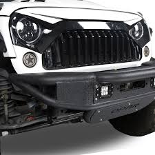 jeep front grill front w7 white black painted grille hood grill for jeep wrangler