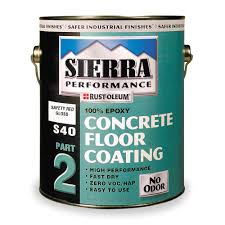 Red Floor Paint Rust Oleum S40 Epoxy Floor Coating Safety Red 1 Gal 4cy69 208557