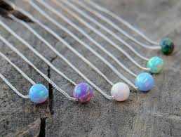 opal necklace silver images Opal necklace opal ball necklace opal silver necklace blue jpg