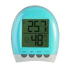 thermometre de chambre bébé lbs hygromètre thermomètre d intérieur hygrobaby bleu