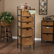 Wicker Basket Bathroom Storage Miraculous Bathroom Cabinet With Wicker Baskets Cabinets At Best
