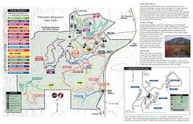 Colorado Mountain Map by Cheyenne Mountain State Park Outthere Colorado