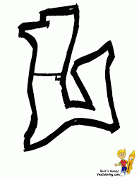 coloring pages of l in graffiti throw up graffiti coloring pages