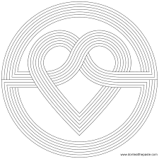 marvelous rainbow mandala coloring pages with heart coloring pages