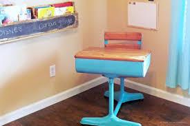 Small School Desk Mid Century Antique Small Student School Desk Chair Set Furniture