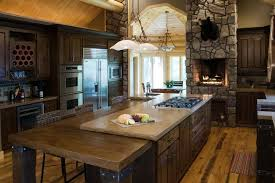 Rustic Style Kitchen Cabinets Rustic Kitchen Cabinets Ideas Wide Island Classic White Design
