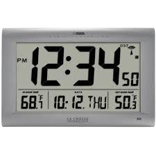 Wall Clock La Crosse Technology Jumbo Atomic Digital Wall Clock With Outdoor