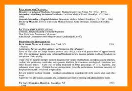 Medical Doctor Resume Example by 7 Internal Resume Sample Resume Sections