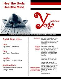 free yoga small business flyer template free online flyers