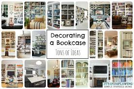 Bookcase Decorating Ideas Living Room Simple Decorating Bookshelf Its Overflowing