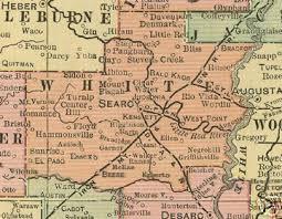 us map searcy arkansas white county arkansas genealogy history maps with searcy beebe