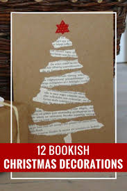 christmas christmas tree books diy 140 best bookish christmas decor images on pinterest book lovers