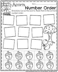 november preschool worksheets preschool worksheets cut and
