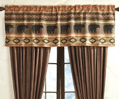 Rustic Curtains And Valances Saranac Lodge Bear U0026 Moose Rod Pocket Valance