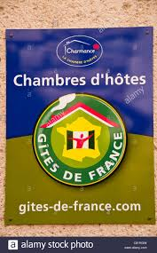 charmance chambre d hotes chambres d hotes sign with gites de logo stock photo royalty