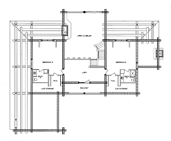 Log House Floor Plans Log Home Floor Plan Hacienda