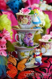 Mad Hatter Tea Party Centerpieces by Madhatter Tea Party Theme Alice In Wonderland Bridal Shower