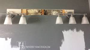 New Light Fixtures How To Replace A Light With 2 Vanity Lights