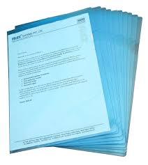 choose color solo transparent sheets protector plastic blue holder pack of 10