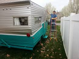 how to paint a vintage trailer vintage trailers how to paint