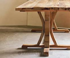 diy rustic farmhouse dining table video and tutorial