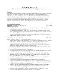 Qa Project Manager Resume Resume Qa Manager Resume Sample