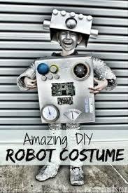 Kids Robot Halloween Costume Cute Robot Costume Halloween Dress Lights Love