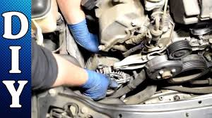 how to remove and replace an alternator mercedes c240 c320 e320
