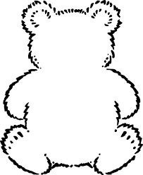 outline teddy bear google preschool bears