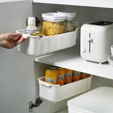 sink kitchen cabinet organizer 2pcs new wall mounted kitchen cabinet storage box sink spices organizer bin plastic gap drawer jar storage container tank