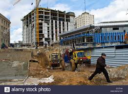 construction sites of stadium and hotels in kharkov ukraine the