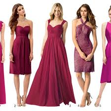 bridesmaid gowns marsala bridesmaid dresses brides