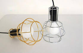Wire Cage Light Art Deco Vintage Industrial Metal Wire Cage Pendant Light Guard