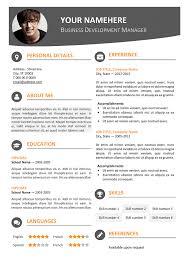 modern resume format 4 modern resume template view download