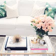 coffee table styling tom ford chanel banana palm pillow gold