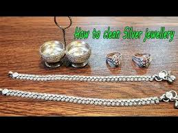 how to clean silver items at home how to clean silver jewellery