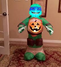 airblown halloween image gemmy prototype halloween ninja turtle with pumpkin