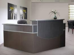 L Shape Reception Desk Modern Reception Station Coordinates With Office And Data Center