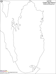Blank Map Of World Political by Blank Map Of Qatar Qatar Outline Map
