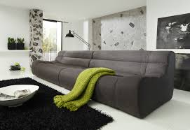Esszimmer Sofa Megasofa Xxl Sofa Polstermöbel Kunstleder Schwarz Strukturstoff