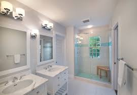 Free Standing Vanity Shower Accent Tile Bathroom Traditional With Aqua Accent