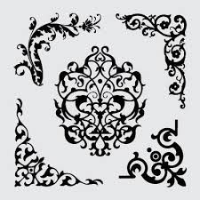 ornamental royalty free vector set illustrated monthly