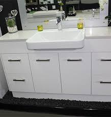 Stone Basin Vanity Unit Custom Vanity Unit 1500mm Stone Top Semi Recessed Basin U2013 Bathroom
