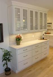 18 Deep Base Cabinets Painted White In Built Storage Hutch With