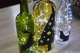 Wine Bottles With Lights Diy Wine Bottle Holiday Decor