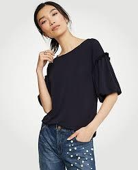 the shoulder black blouse tops for on sale