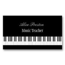 Business Card Music Piano Keys Music Business Cards Purple This Great Business Card